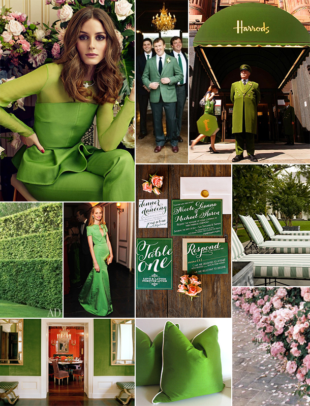 Pink and Green Inspiration Board | Camille Styles