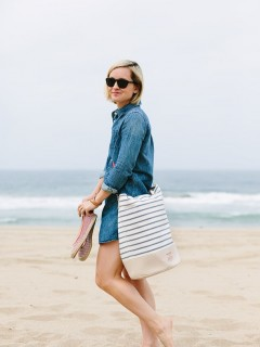 Beach Outfit styled by Jen Pinkston | photos by Mary Costa for Camille Styles