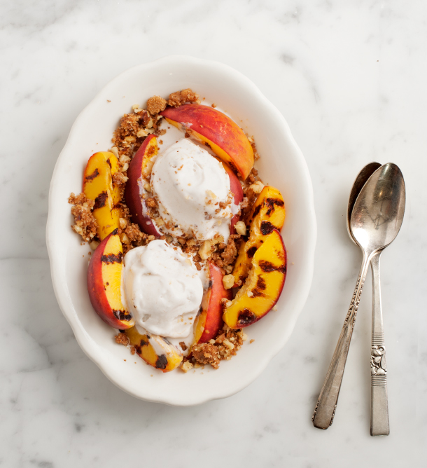 ... grilled nectarine crumble grilled nectarines with grilled nectarine