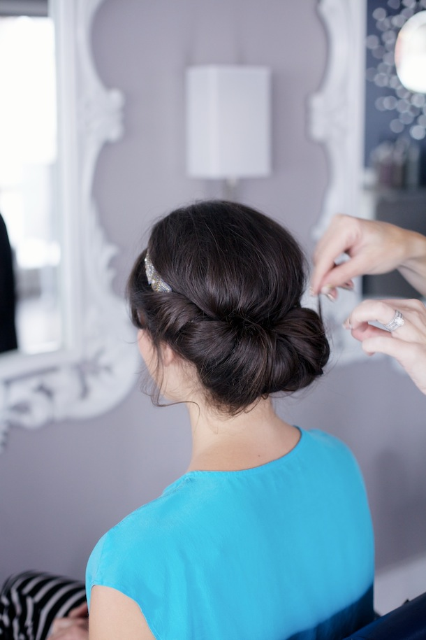Headband Updo Tutorial by Martha Lynn Kale | Photo by Kate LeSueur for Camille Styles