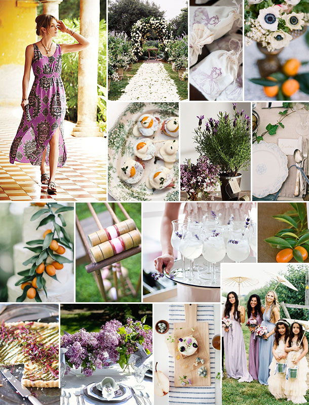 Lavender & Clementine Inspiration Board | Camille Styles