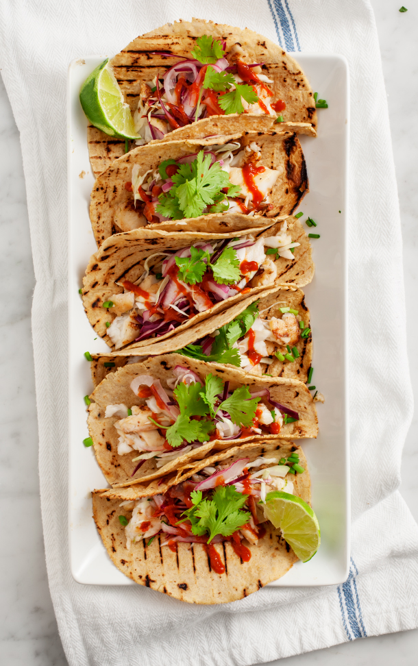 In Season :: Tequila-Lime Fish Tacos - Camille Styles