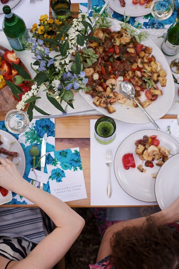 Colorful Backyard Supper | photos by Kate LaSueur for Camille Styles