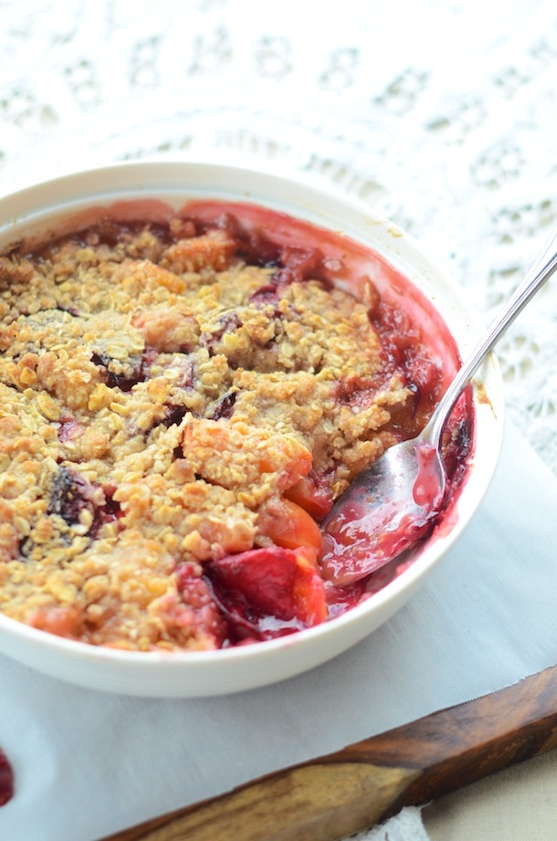 Quick Stone Fruit Crumble | Camille Styles