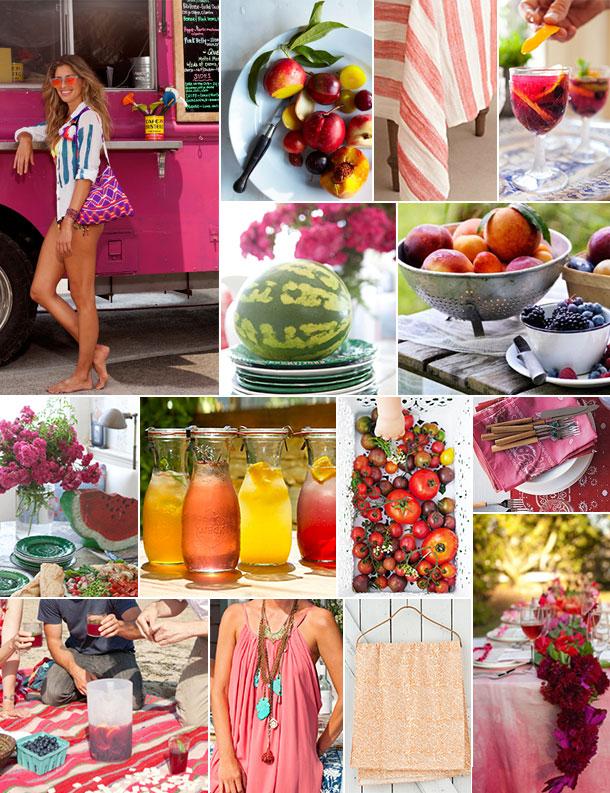 Watermelon & Tomato Inspiration Board | Camille Styles