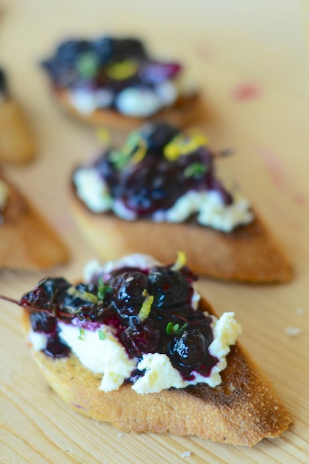 Tuesday Tastings :: Blueberry Chutney + Ricotta | Camille Styles