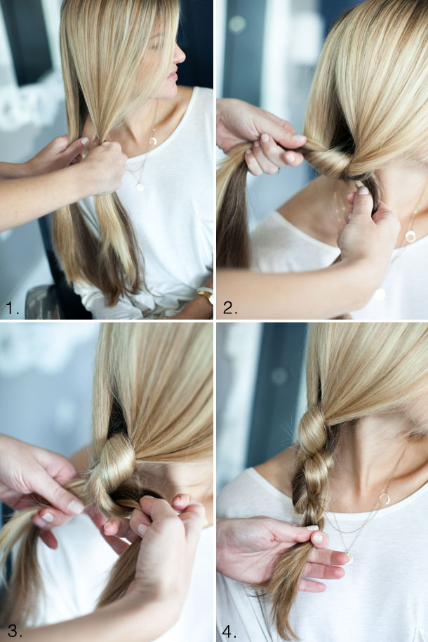 Pretty Simple Knotted Side Braid Camille Styles