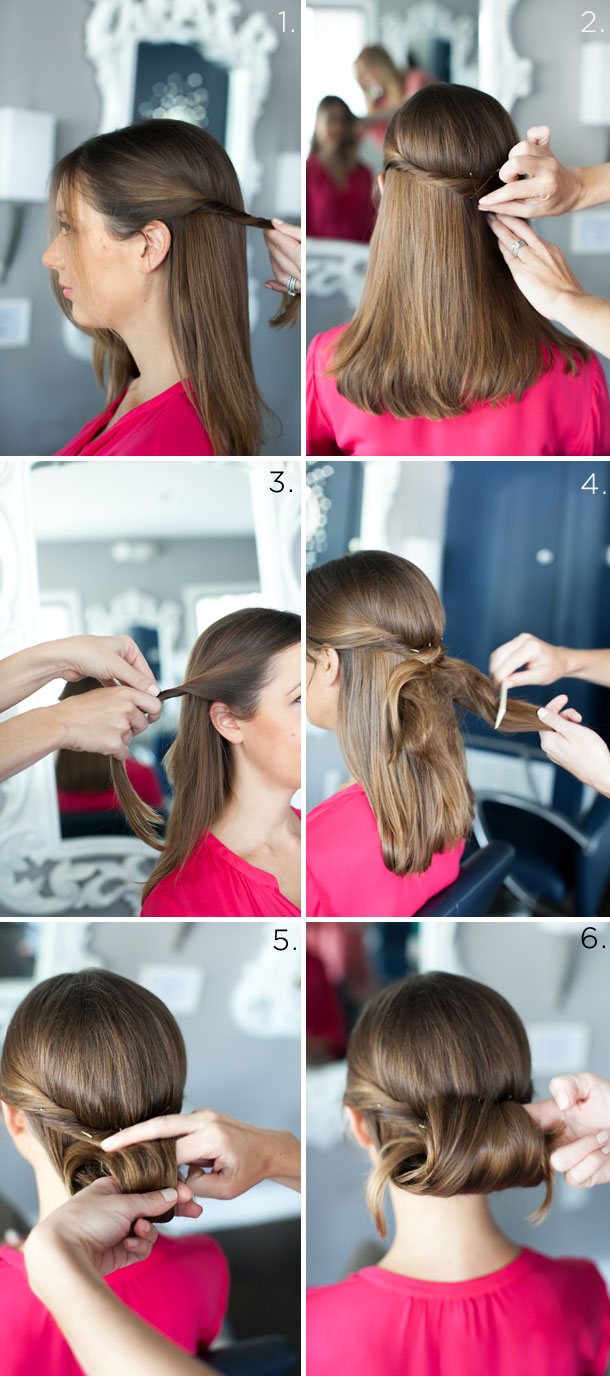 Rolled Chignon Tutorial by Martha Lynn Kale | photos by Kate Stafford for Camille Styles