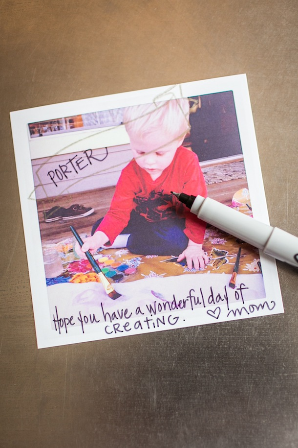 DIY back-to-school lunchbox notes | Carrie Ryan for Camille Styles