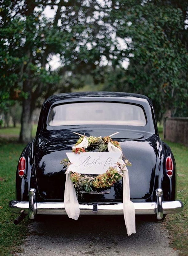 Getaway Car | photo by Jose Villa via Once Wed