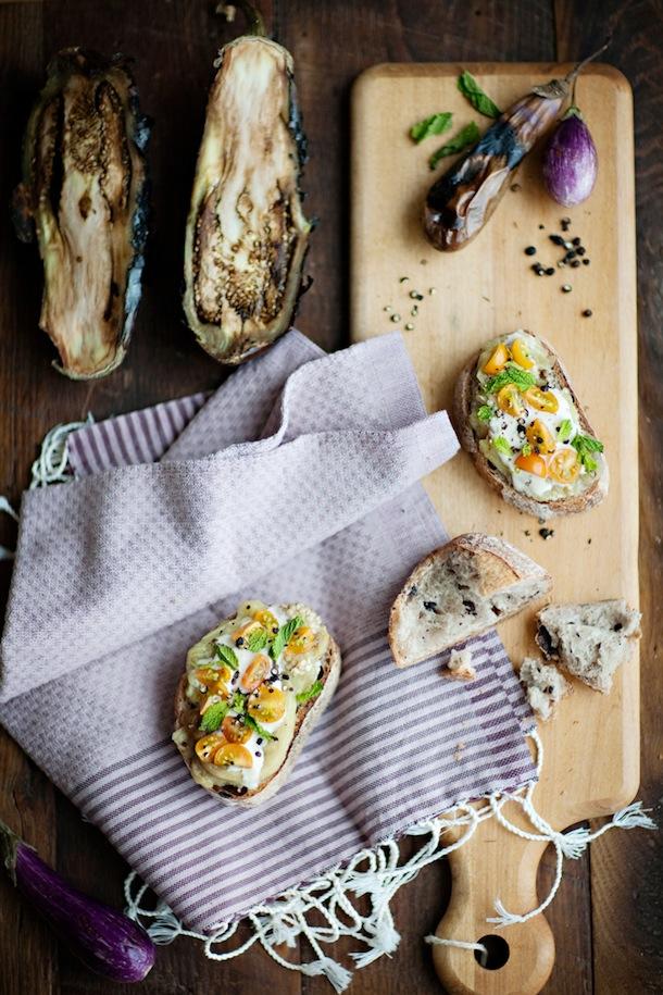 eggplant crostini