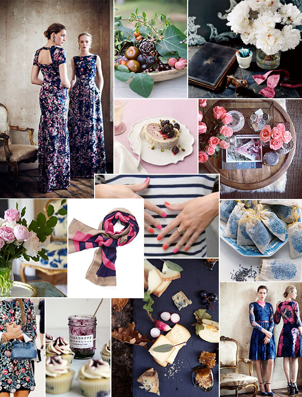 Blush & Indigo Inspiration Board | Camille Styles