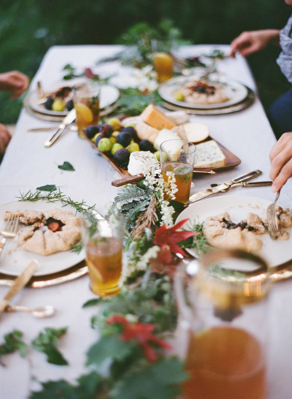 Outdoor Fall Wedding Reception | Camille Styles