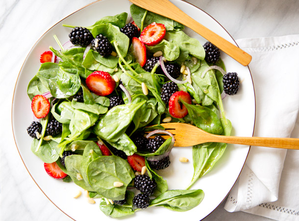 Spinach Blackberry Salad recipe | A House in the Hills for Camille ...