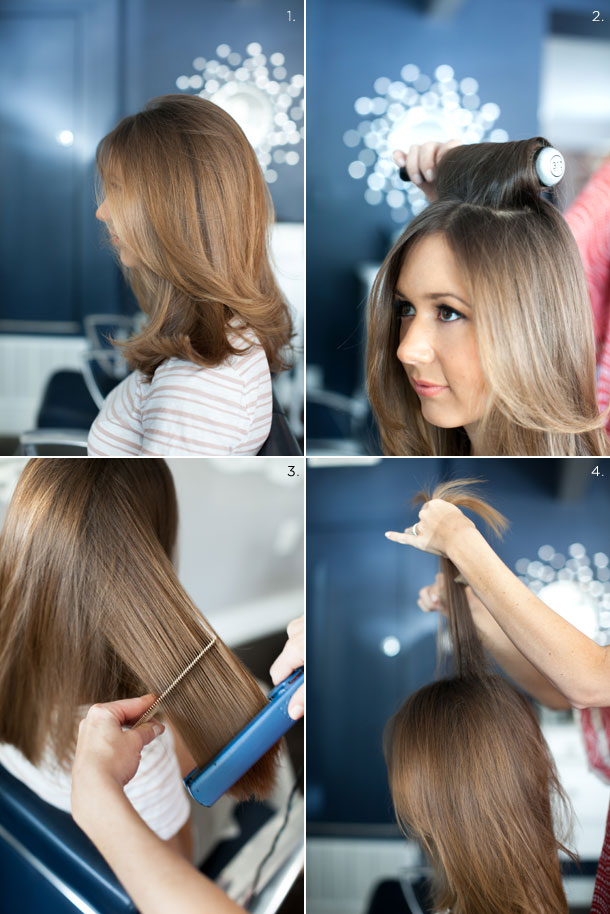 How to get straight, voluminous hair by Martha Lynn Kale | photos by Kate Stafford for Camille Styles