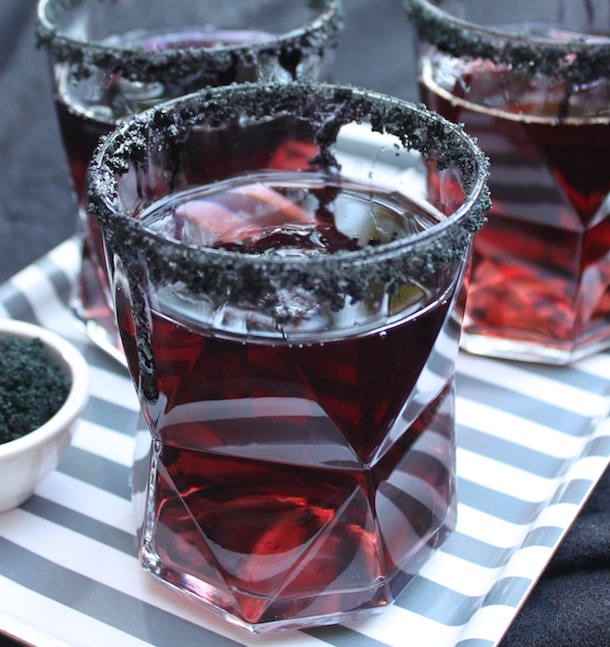 Black Licorice Cocktail recipe for Halloween | Camille Styles