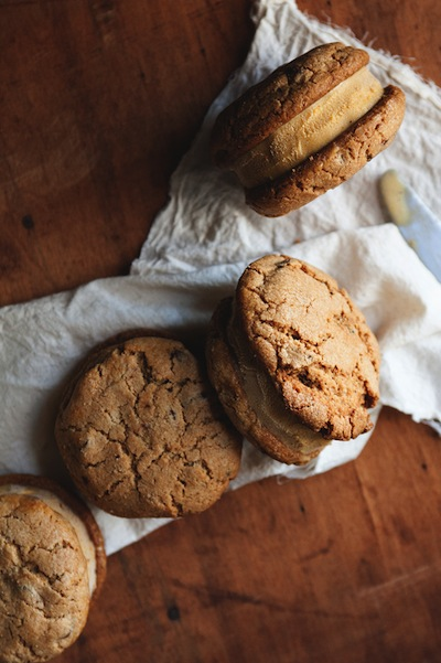Pumpkin Ice Cream Sandwiches | 10 Best Pumpkin Recipes | Camille Styles