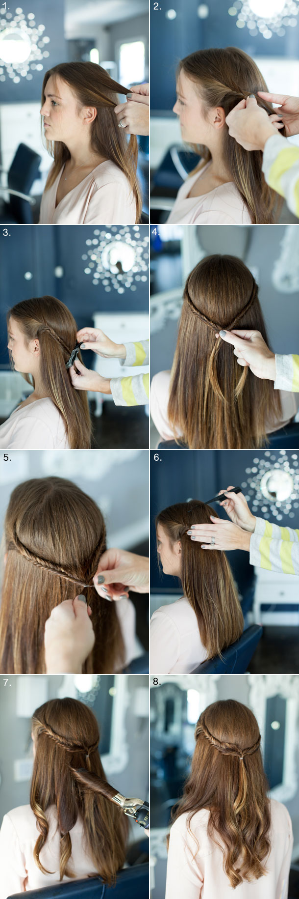 Fishtail Half-Updo tutorial by Martha Lynn Kale | photos by Kate Stafford for Camille Styles