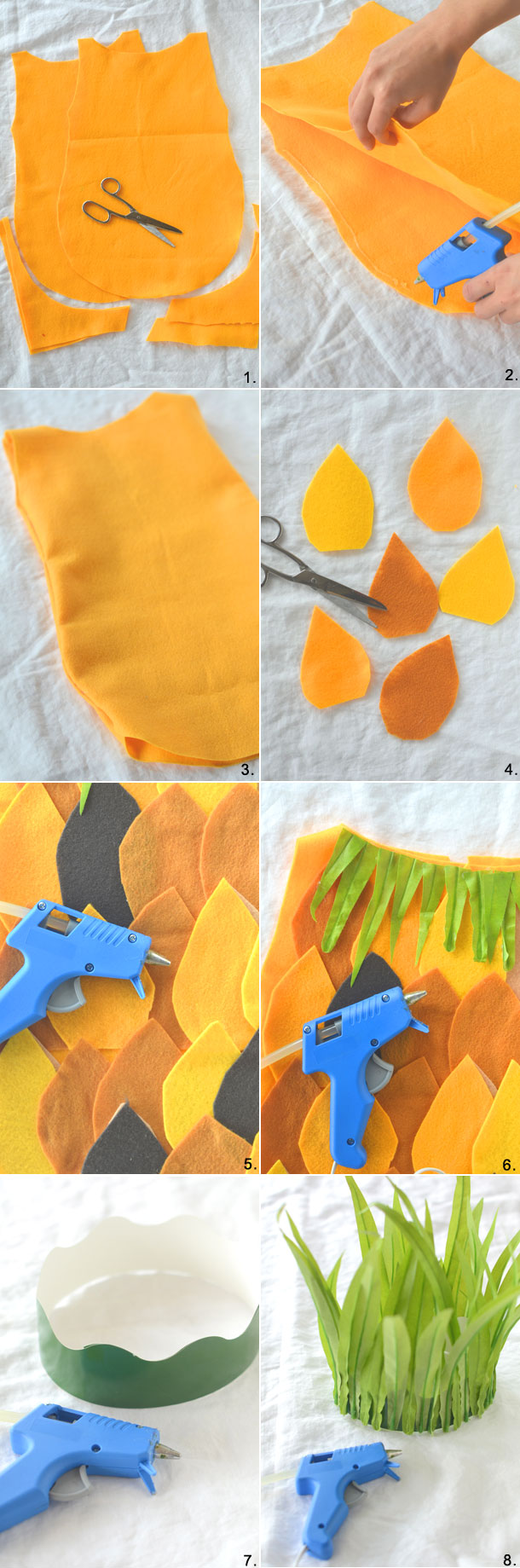 DIY no-sew Pineapple Costume | Camille Styles