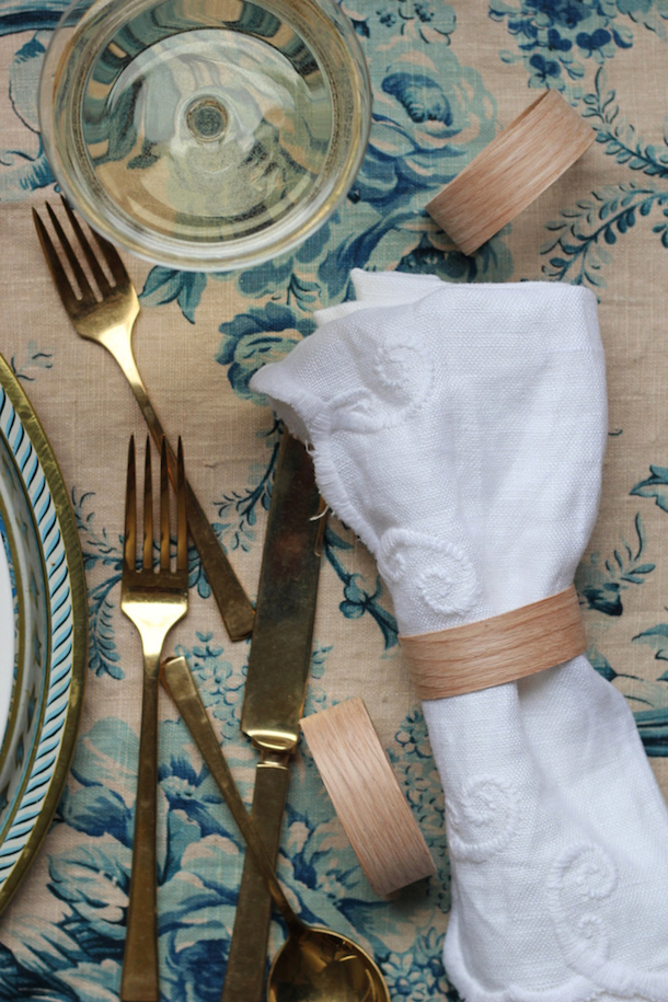 DIY Modern Wood Napkin Rings by Hank & Hunt | Camille Styles