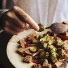 Roasted Brussels sprout and toasted rye bread | Ten Best Brussels Sprout Recipes | Camille Styles