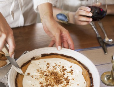Pumpkin Pie with Gingersnap Crust, photo by Chelsea Fullerton | Camille Styles