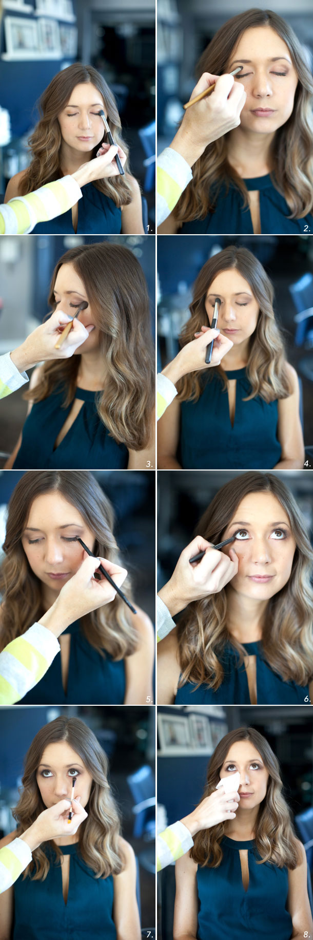 Everyday Smoky Eye in brown shades, tutorial by Martha Lynn Kale | photos by Kate Stafford for Camille Styles