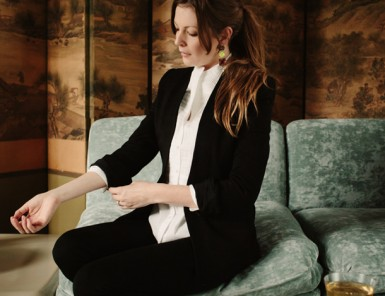 Pulling of the Girl Tuxedo | Grown-up Shoes and Wynn Myers for Camille Styles
