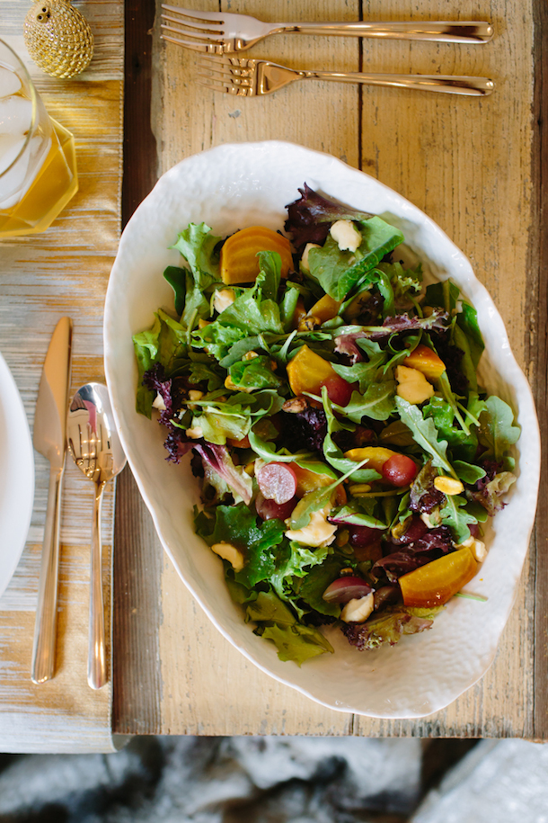 Golden Beet & Pear Salad, photo by Wynn Myers | Camille Styles