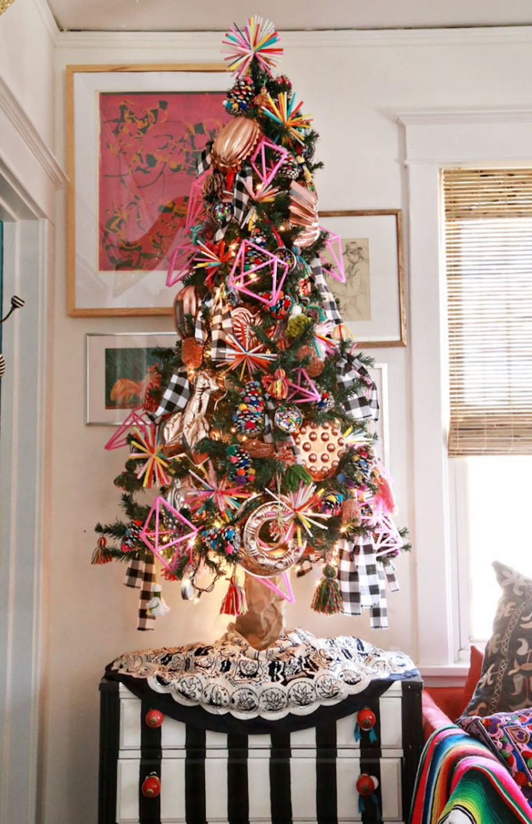funky pom pom best christmas tree