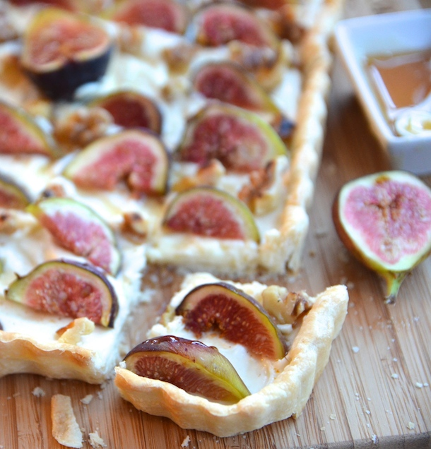 Fig & Walnut Tart by Katie Meyers | Camille Styles