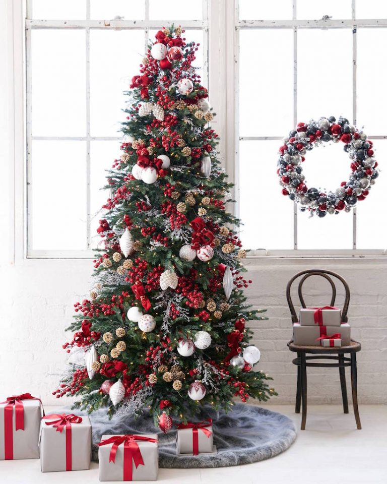 red and white frosty berry tree best christmas tree