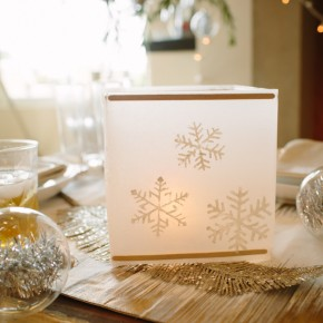 DIY Waxed Paper Snowflake Lantern | photos by Wynn Myers | Camille Styles