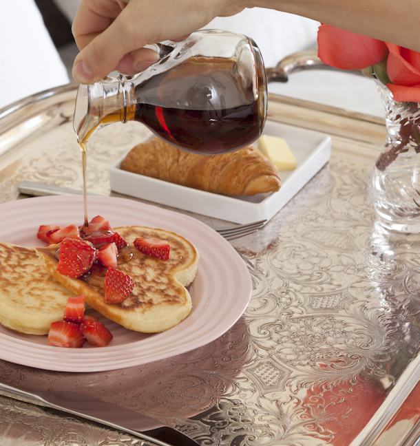 Valentine's Buttermilk Pancakes | Camille Styles