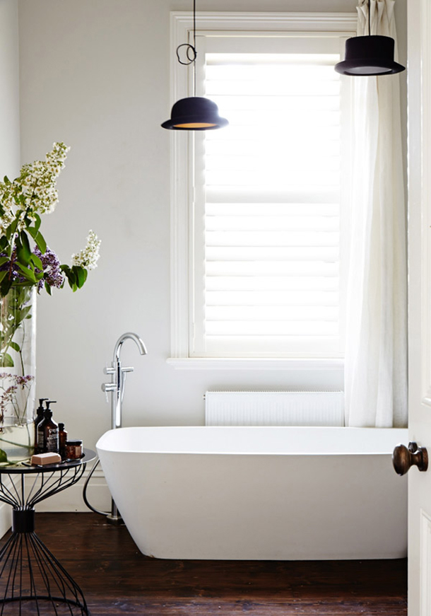 Modern Classic Bathroom by Sean Fennessy for Design Files | Fuji Files for Camille Styles