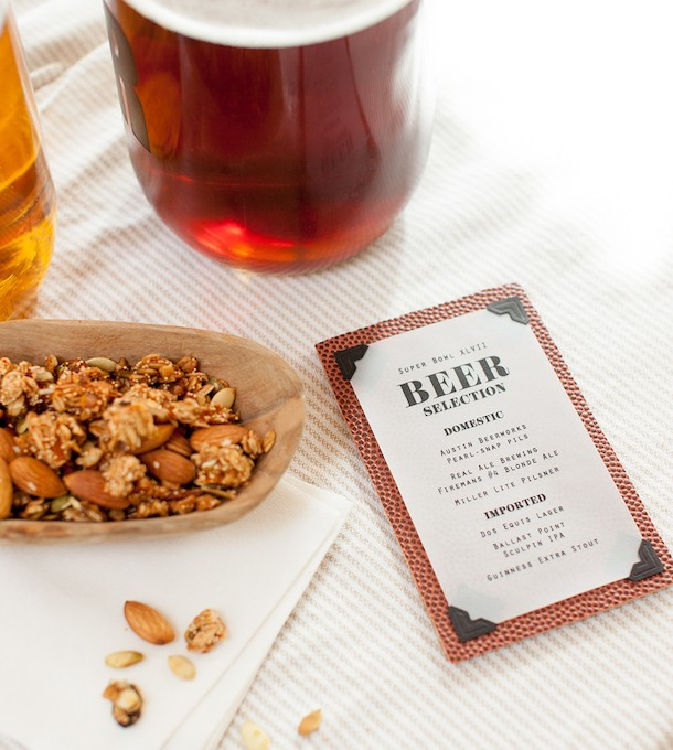 DIY Football Beer Menu for a Super Bowl Party | photos by Melanie Grizzel | Camille Styles