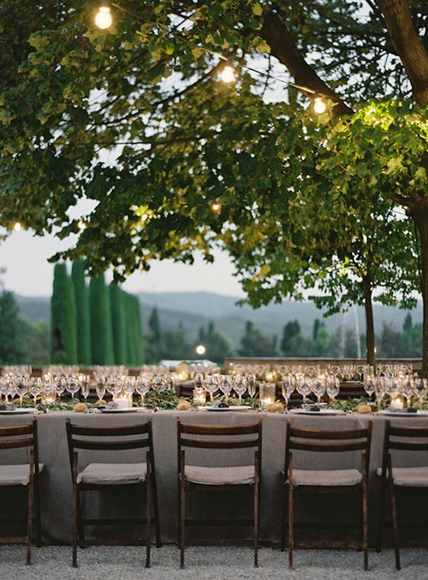 Barcelona Castle Wedding Reception, photo by Bryce Covey | Camille Styles