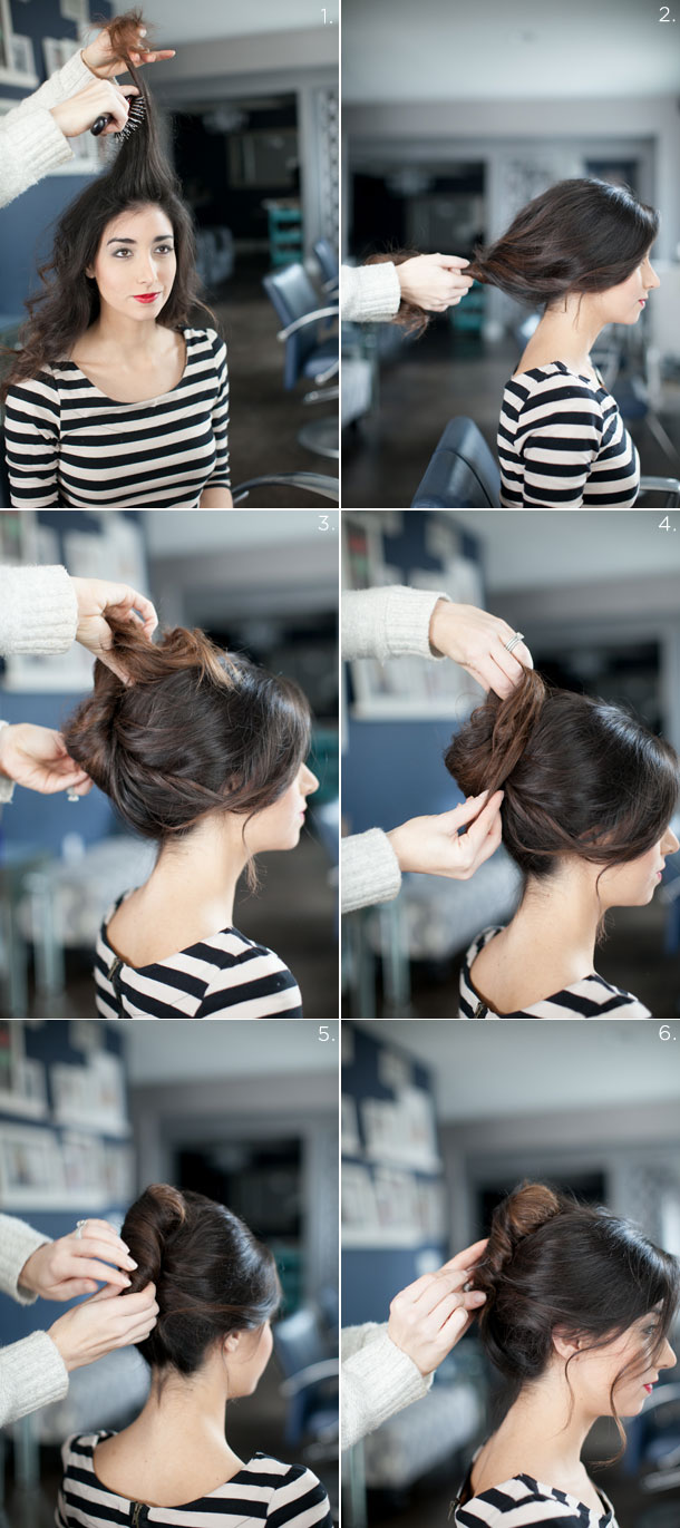 How to do a french twist casual updo, by Martha Lynn Kale | photos by Kate Stafford for Camille Styles