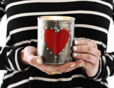 DIY Tin Can Valentine's Votive | Camille Styles