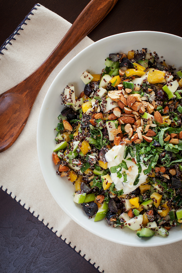 Quinoa Chopped Veggie Salad, photo by Melanie Grizzel | Camille Styles