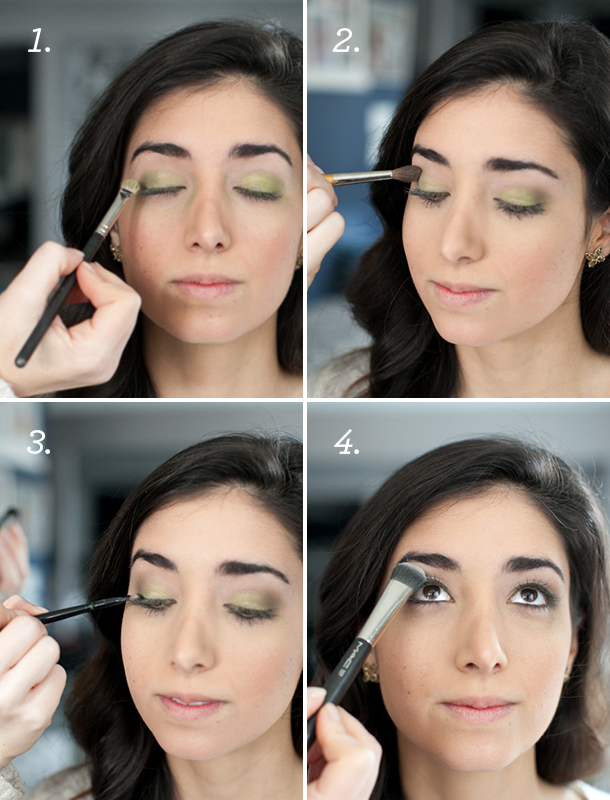 Green Eye Shadow Tutorial | photos by Kate Stafford for Camille Styles