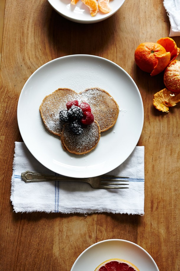Chestnut Pancakes | Breakfast Ideas | Julia Gartland for Camille Styles