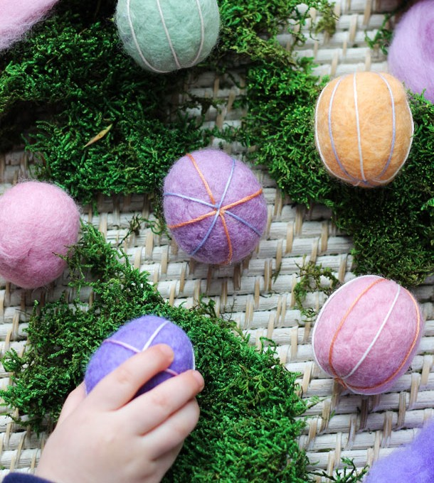 Embroidered Felt Easter Eggs | Camille Styles