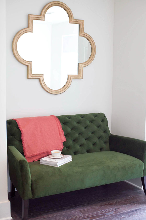 DIY Gold Mirror by Claire Zinnecker | photos by Kim Jones for Camille Styles
