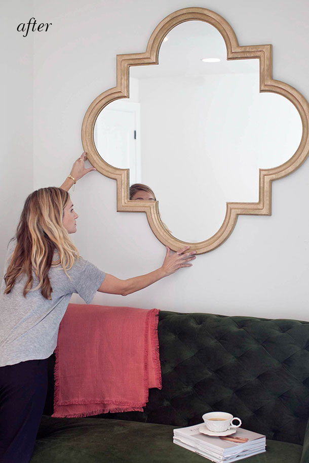 Gold Mirror Spray Paint Geek Decor Gold Frame With Spray Painted