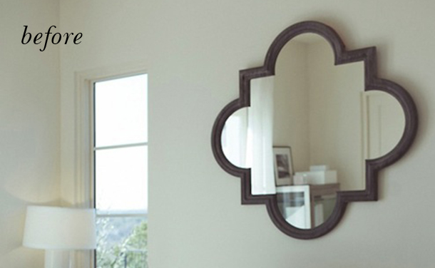DIY Gold Leaf Mirror by Claire Zinnecker | Camille Styles
