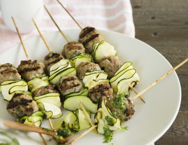 Turkey Koftas with Zucchini Ribbons & Chimichurri | photo by Buff Strickland for Camille Styles