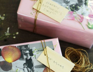 DIY Pressed Flowers Gift Wrapping for Mother's Day | Camille Styles