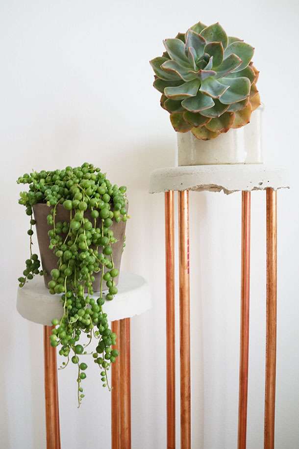 Transformed Concrete Copper Plant Stand Camille Styles