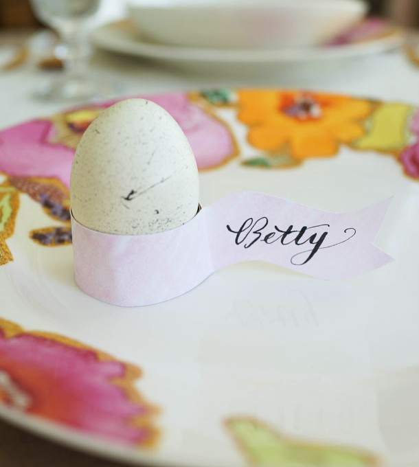 DIY Easter Egg Holder Placecards   Camille Styles